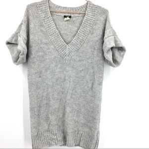 Gray S/S J Crew Sweater Tunic